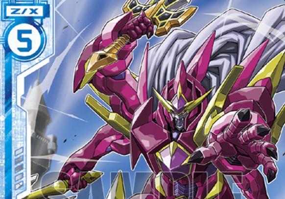 神秘の機甲武者シンクロトロン(ゼクス第26弾「境界を断つ剣」レア収録)が公開!プレイヤー「七尾」で有効になる【常】と【自】の能力を持つ新たな「シンクロトロン」のキラーマシーン・ゼクス!