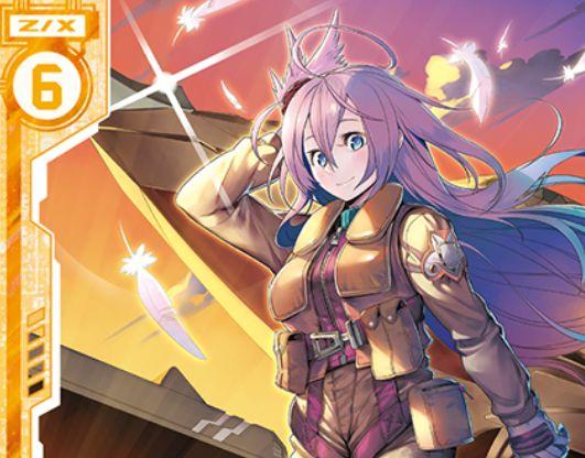天翔けるエース フォスフラム(レア:第30弾 運命の交わる刻)が公開!プレイヤー「さくら」の【常】と【自】の能力を持つエンジョイフレーム・セイクリッドビースト!
