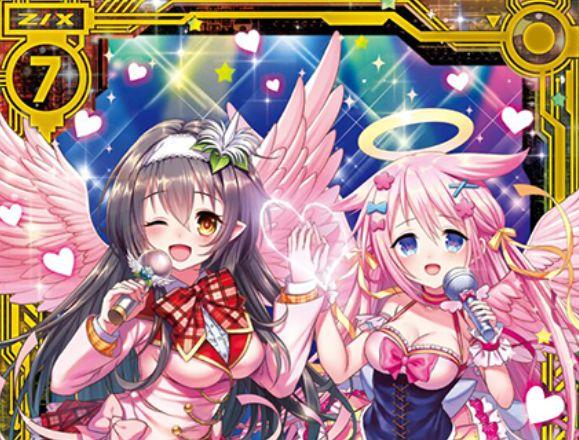 ペクティリス with ミーリィ(SR:EX17弾 サマーステージ!!)が公開!プレイヤーがミーリィPかペクティリスPなら有効になる能力を持った、エンジェル&リーファーの両種族持ちスーパーレア・ゼクス!