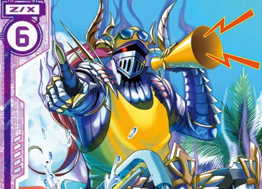 遊泳監視長マルディシオン(ノーマル:第32弾 夢装イデアライズ)が公開!プレイヤーが「イリューダ」なら【起】能力を得る、エンジョイテーマ「水着・プール」で描かれたマルディシオン!